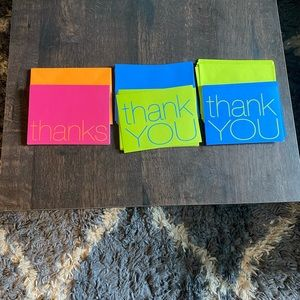 💜3/$30💜 Various thank-you cards with envelopes
